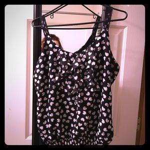 Studio Y Tops - ❤️Studio y polka dot banded tank blouse top